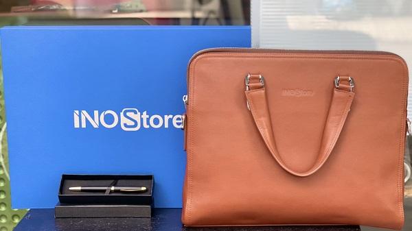 Tặng quà cho giáo viên hướng dẫn thực tập | quà tặng cặp da đựng laptop INOSTORE